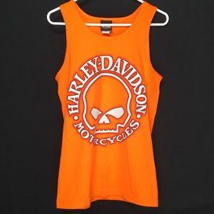 Harley Davidson Las Vegas mens tank top tee orange